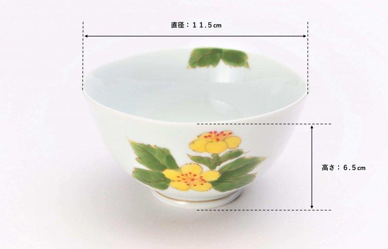 誕生花シリーズ 山吹 茶碗・湯呑セット (3月誕生花)(化粧箱入り) 画像サブ6