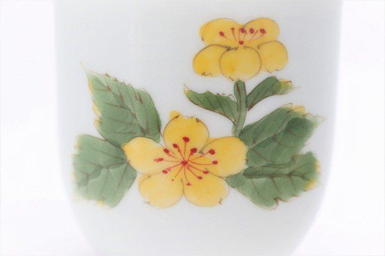 誕生花シリーズ 山吹 茶碗・湯呑セット (3月誕生花)(化粧箱入り) 画像サブ9