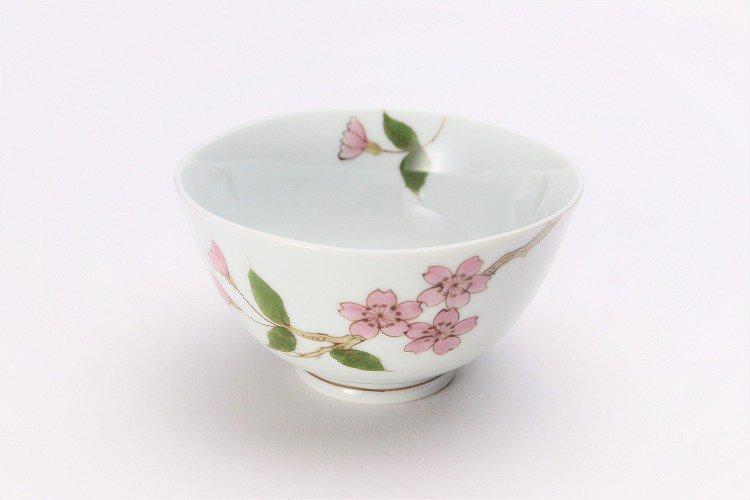 〇誕生花シリーズ 桜 茶碗・湯呑セット (4月誕生花)(化粧箱入り) 画像サブ1