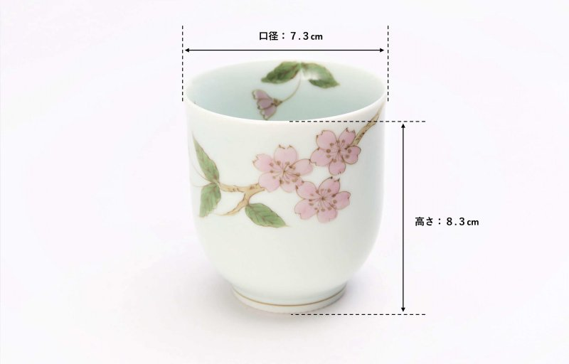 〇誕生花シリーズ 桜 茶碗・湯呑セット (4月誕生花)(化粧箱入り) 画像サブ12