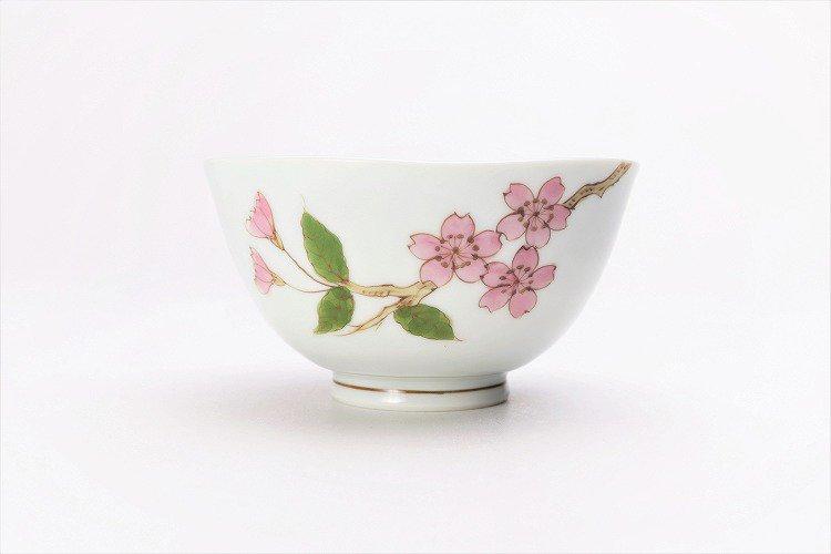 〇誕生花シリーズ 桜 茶碗・湯呑セット (4月誕生花)(化粧箱入り) 画像サブ2