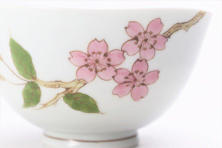 〇誕生花シリーズ 桜 茶碗・湯呑セット (4月誕生花)(化粧箱入り) 画像サブ3