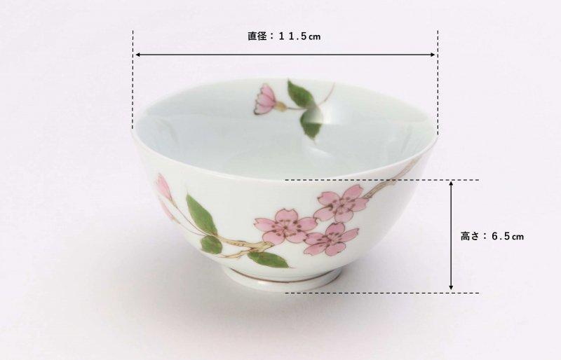 〇誕生花シリーズ 桜 茶碗・湯呑セット (4月誕生花)(化粧箱入り) 画像サブ6