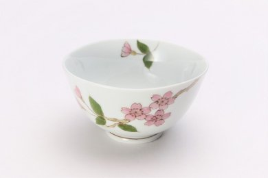 誕生花シリーズ 桜 茶碗 (4月誕生花)