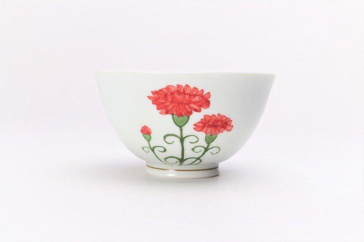 誕生花シリーズ カーネーション 茶碗・湯呑セット (5月誕生花)(化粧箱入り) 画像サブ2