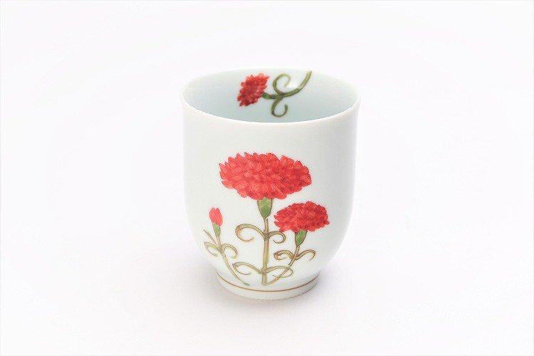 誕生花シリーズ カーネーション 茶碗・湯呑セット (5月誕生花)(化粧箱入り) 画像サブ7