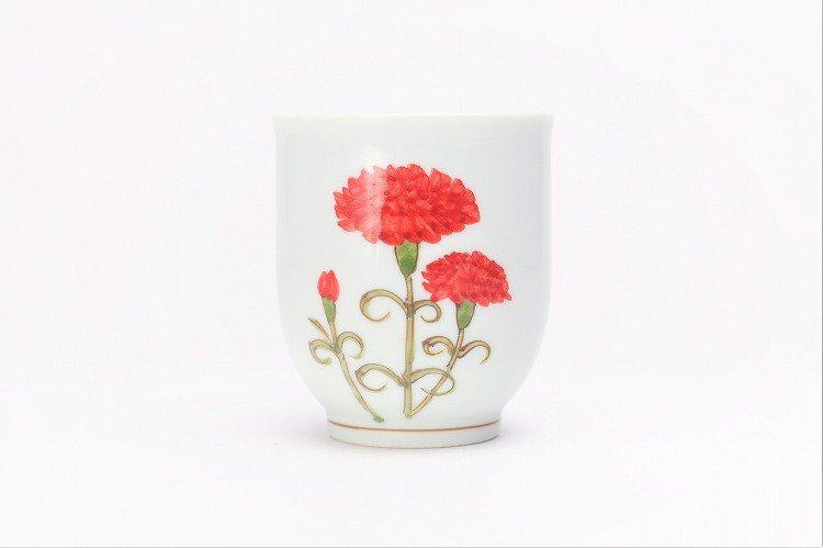 誕生花シリーズ カーネーション 茶碗・湯呑セット (5月誕生花)(化粧箱入り) 画像サブ8