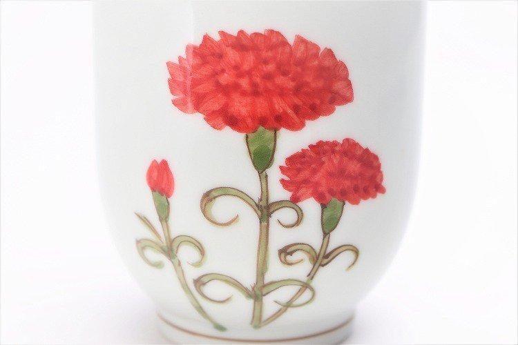 誕生花シリーズ カーネーション 茶碗・湯呑セット (5月誕生花)(化粧箱入り) 画像サブ9