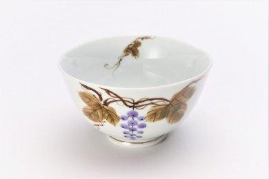 誕生花シリーズ 山ぶどう 茶碗 (10月誕生花)