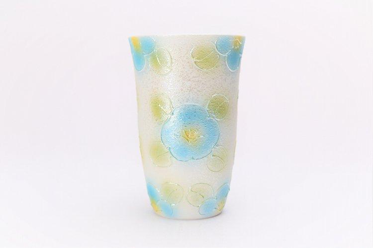 楽々シリーズ ラスター山茶花(青) フリーカップ (化粧箱入り) 画像サブ1