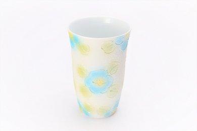 ☆楽々シリーズ ラスター山茶花(青) フリーカップ (化粧箱入り)
