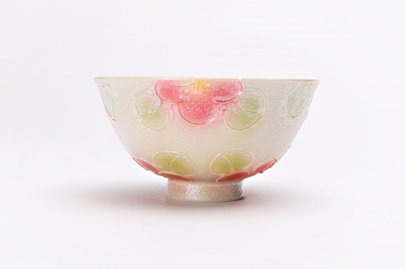 楽々シリーズ ラスター山茶花(赤) 茶碗・フリーカップセット (化粧箱入り) 画像サブ2