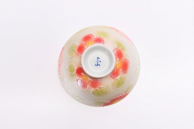 楽々シリーズ ラスター山茶花(赤) 茶碗・フリーカップセット (化粧箱入り) 画像サブ5