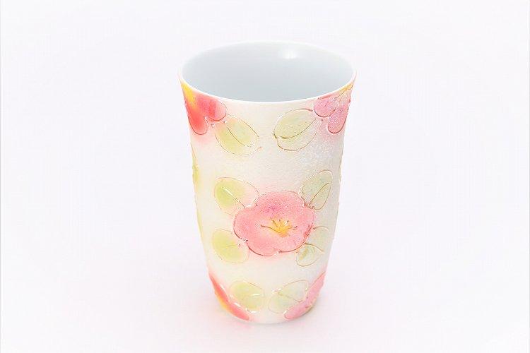 楽々シリーズ ラスター山茶花(赤) フリーカップ (化粧箱入り) 画像メイン