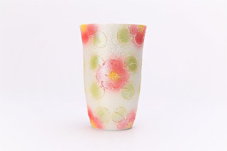 楽々シリーズ ラスター山茶花(赤) フリーカップ (化粧箱入り) 画像サブ1