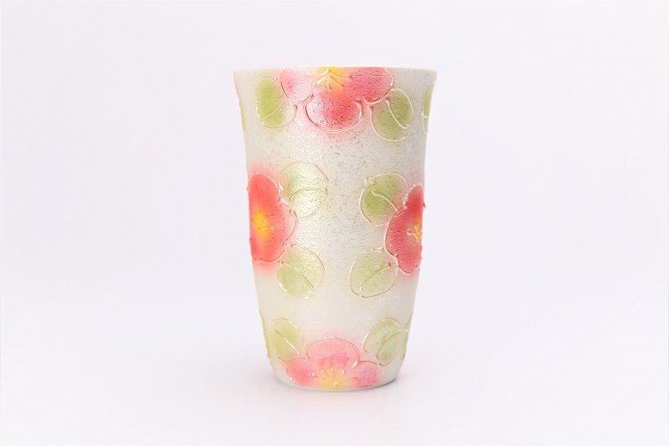 楽々シリーズ ラスター山茶花(赤) フリーカップ (化粧箱入り) 画像サブ2