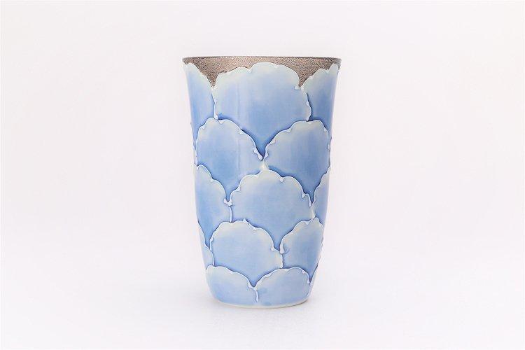 楽々シリーズ 金・プラチナ牡丹 ペアフリーカップ (化粧箱入り) 画像サブ2