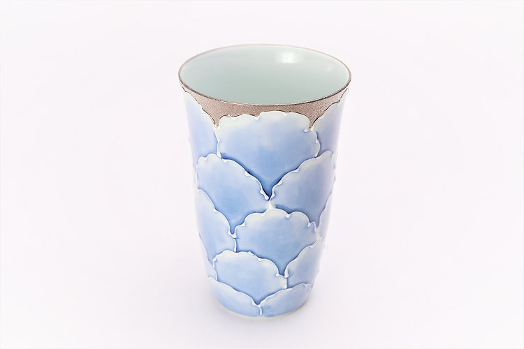 楽々シリーズ プラチナ牡丹 フリーカップ (化粧箱入り) 画像メイン