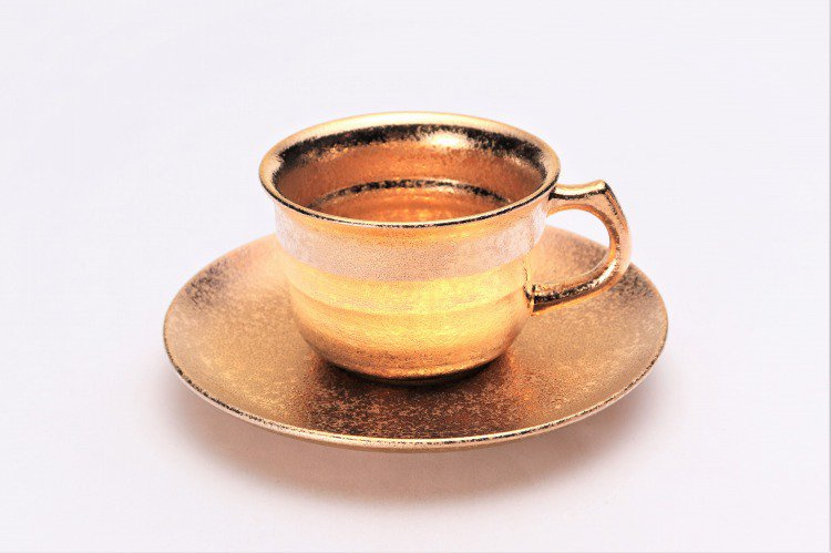 GOLDシリーズ 千段コーヒー碗C/S (化粧箱入り) 画像メイン