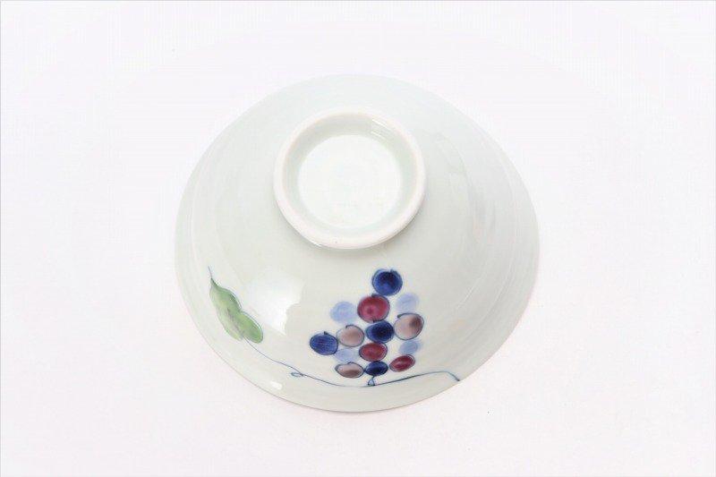 一峰窯 彩りぶどう ひねり飯碗 ペア 画像サブ5