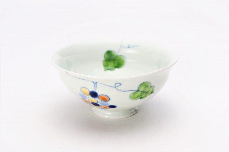 一峰窯 彩りぶどう ひねり飯碗 ペア 画像サブ6
