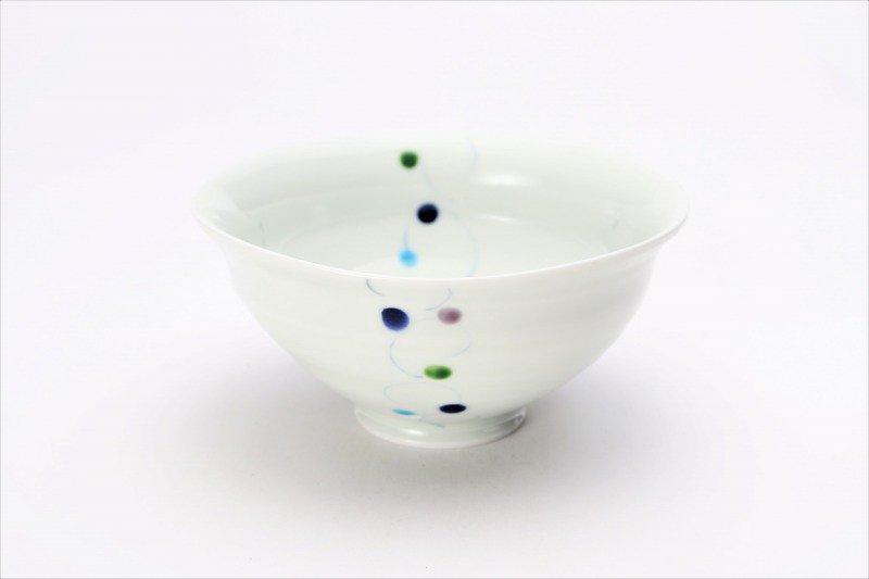 一峰窯 色珠(帯) ひねり飯碗 ペア 画像サブ1