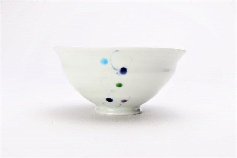 一峰窯 色珠(帯) ひねり飯碗 ペア 画像サブ2