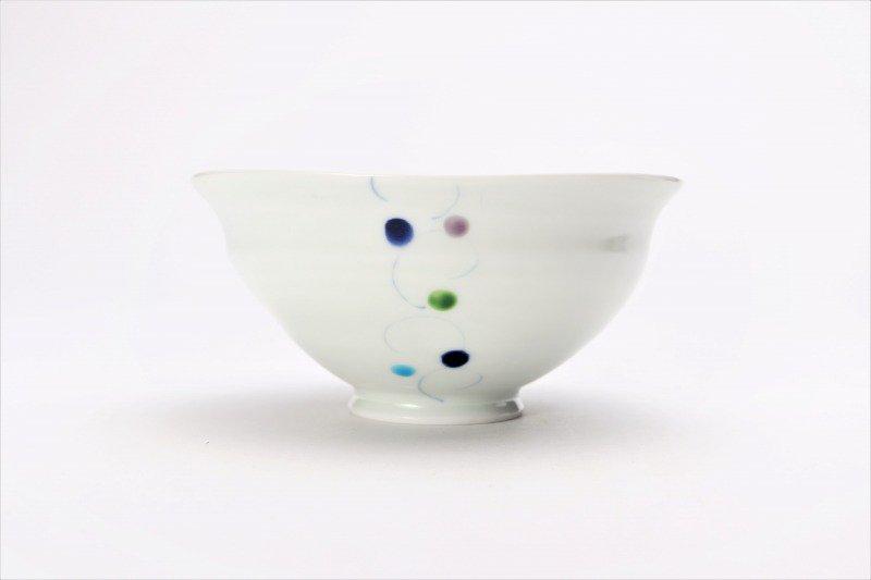 一峰窯 色珠(帯) ひねり飯碗 ペア 画像サブ3