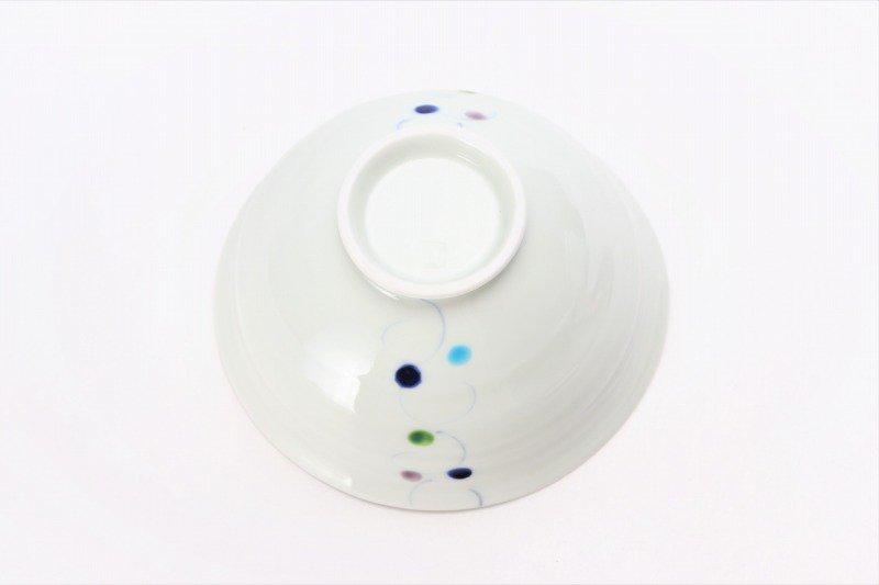 一峰窯 色珠(帯) ひねり飯碗 ペア 画像サブ6