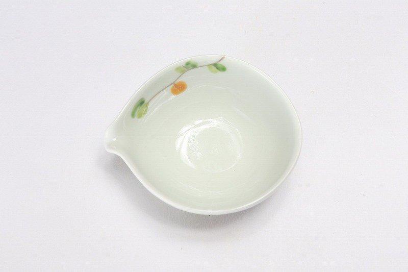 一峰窯 オリーブ(橙) 丸片口小付 画像サブ2