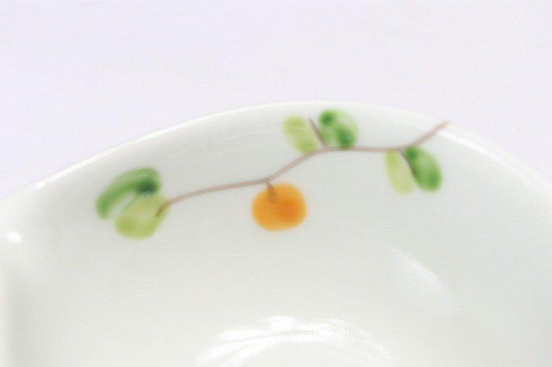 一峰窯 オリーブ(橙) 丸片口小付 画像サブ3