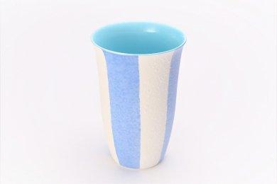 楽々シリーズ ストライプ(青) フリーカップ (化粧箱入り)