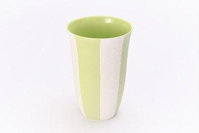 ☆楽々シリーズ ストライプ(黄緑) フリーカップ (化粧箱入り)