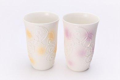 ☆楽々シリーズ 渦真珠 ペアフリーカップ (化粧箱入り)