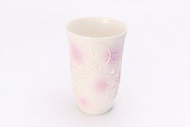 ☆楽々シリーズ 渦真珠雲母紫 フリーカップ (化粧箱入り)