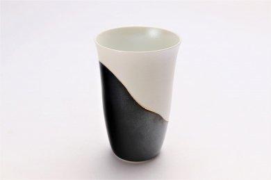 ☆楽々シリーズ 黒釉パール金線 フリーカップ (化粧箱入り) 在庫7個