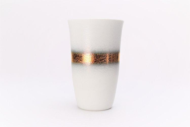 楽々シリーズ 白マット吹金帯 フリーカップ (化粧箱入り) 画像サブ1