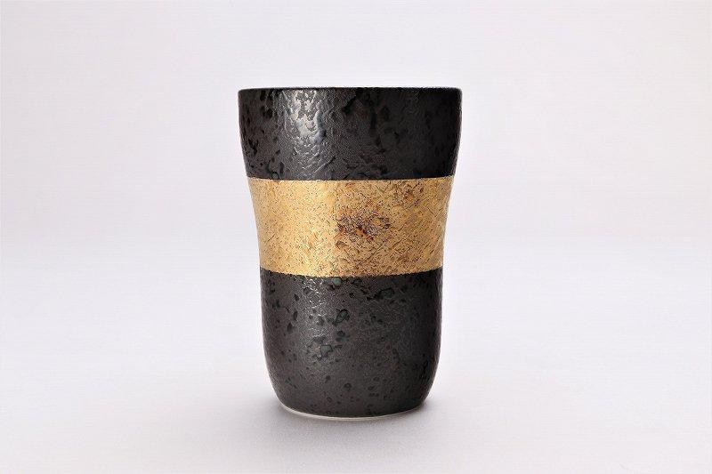 親峰窯 焼き締め金帯・銀帯 ペアフリーカップ 在庫3個 画像サブ1