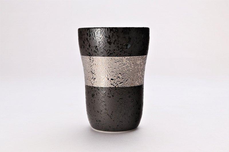 親峰窯 焼き締め金帯・銀帯 ペアフリーカップ 在庫3個 画像サブ2