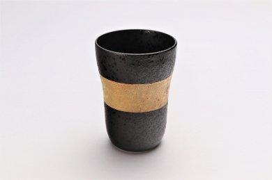 親峰窯 焼き締め金帯 フリーカップ