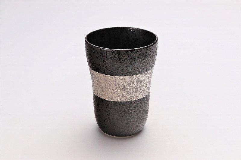 親峰窯 焼き締め銀帯 フリーカップ 在庫3個 画像メイン