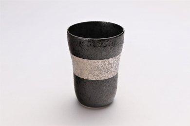 親峰窯 焼き締め銀帯 フリーカップ 在庫3個