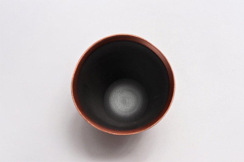 筒山太一窯 銅器彩 反フリーカップ 在庫9個 画像サブ2
