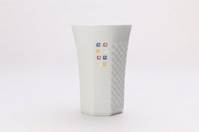 丹心窯 水晶スクエア・カラースクエア フリーカップ 在庫2組 画像サブ2