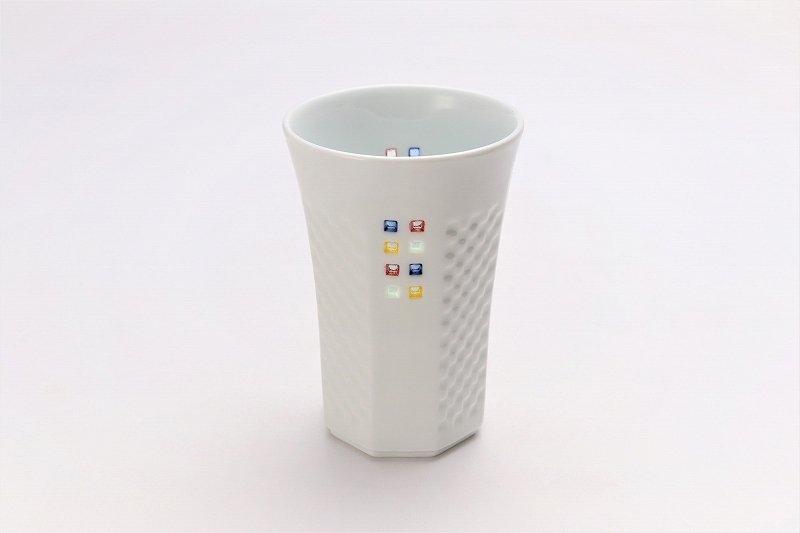 丹心窯 水晶カラースクエア フリーカップ 在庫2個 画像メイン