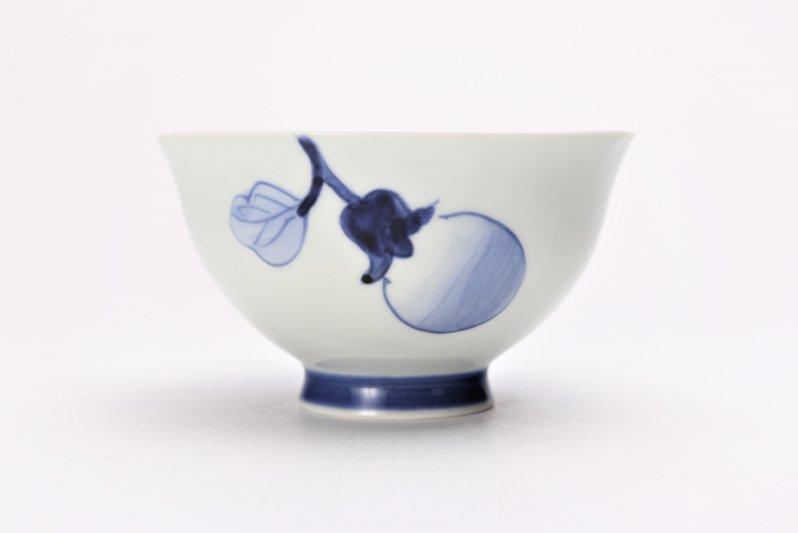 皓洋窯 染付なす ほっこり飯碗(大) 画像サブ1