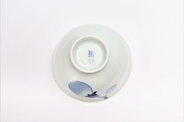 皓洋窯 染付なす ほっこり飯碗 ペア 画像サブ12