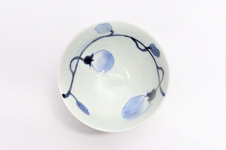 皓洋窯 染付なす ほっこり飯碗 ペア 画像サブ4