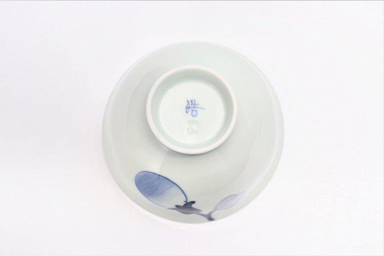 皓洋窯 染付なす ほっこり飯碗 ペア 画像サブ5