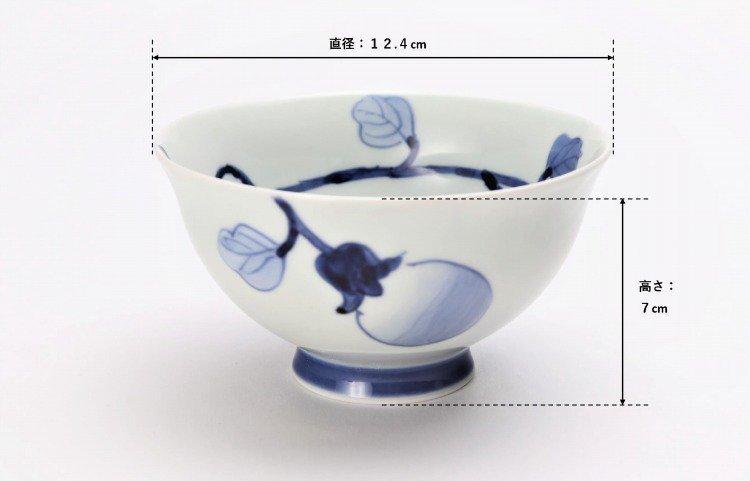 皓洋窯 染付なす ほっこり飯碗 ペア 画像サブ7